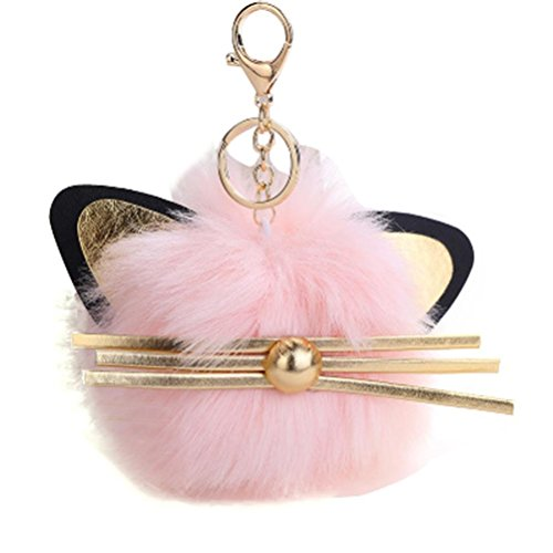 12CM Cute Keychain Pendant Women Pom Pom Car Keychain Handbag Wallet Backpack Key Ring - Back Diy Pack
