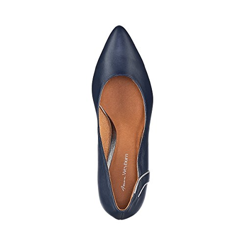 Gre Anne Weyburn mit La Wellendetail 40 Redoute Lederpumps Blau Frau 4f5xw