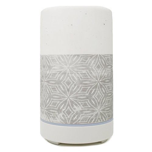 Edens Garden Ultrasonic Ceramic Essential Oil Diffuser For Aromatherapy, Stone Gray