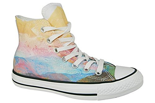 Converse Womens Chuck Taylor Photo Reel Sunset High Top Sneaker Solar Orange/Purple Dusk 5 M - Converse Women High Top Purple
