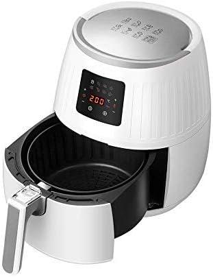 1500 W, friggitrice ad aria calda, display digitale, senza olio, facile da usare e pulire, per 2-3 persone, 3,5 litri HausLiebe LF1 Airfryer bianco
