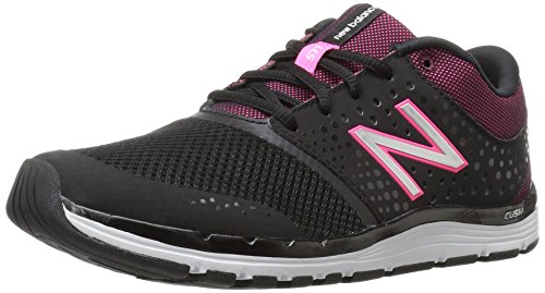 New Balance Women's WX577V4 Cross Trainer, Black/Alpha Pink, 10 B US