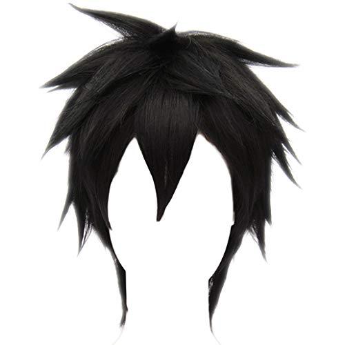 Big Hero 6 Hiro Hamada (MSHUI Anime Movie Big Hero 6 Hiro Hamada Costume Cosplay Wig Black Short)