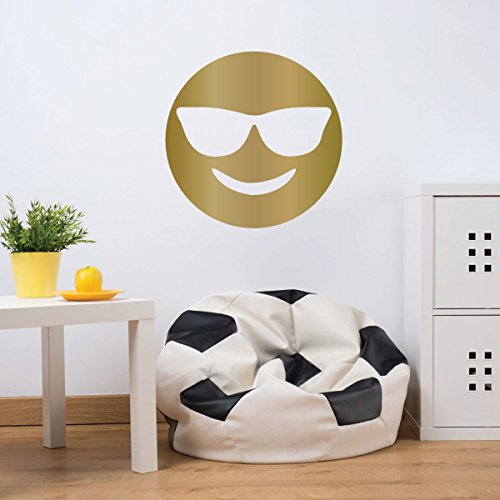 Emoji Wall Decal - Sunglasses - Personalized Vinyl Decorations for Boys or Girl's Bedroom, Playroom or Nursery - Sunglass Decals