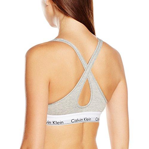 Calvin Klein Bralette Lift, Sujetador para Mujer Gris (Grey Heather 020)