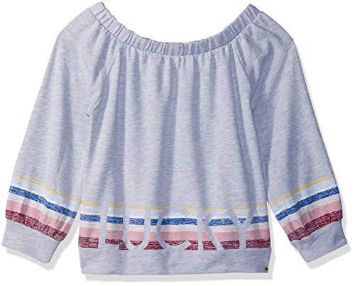 Lucky Brand Big Girls' Long Sleeve Fashion Top, Keilah Cool Grey Heather, Medium
