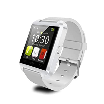CIYOYO 2015New Bluetooth Smart Watch Wrist Wrap Watch Phone for IOS Apple iphone 4/4S/5/5C/5S Android Samsung S2/S3/S4/S5/Note 2/Note 3 HTC(White)