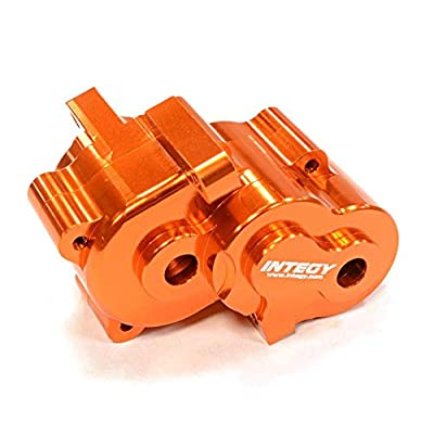 Integy RC Model Hop-ups T3429ORANGE Alloy Gear Box for 1/16 Traxxas E-Revo VXL,Slash VXL,Summit VXL,Rally: Toys & Games
