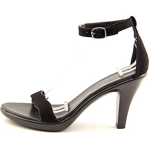 Open Black Alexander Ankle Strap Casual Athena Sandals Toe Womens LES xAwtp4
