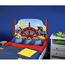 Peel and Stick Pirate Panel Headboard Size: Twin