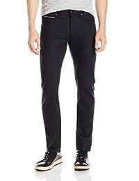 Naked & Famous Denim mens Superskinnyguy Solid Black Selvedge Jeans