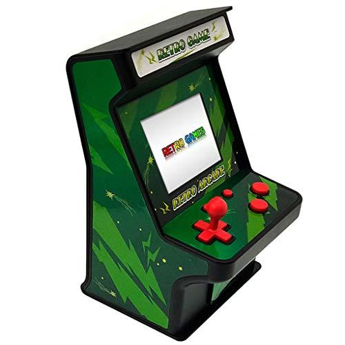 BoKo Multiple Colour Double 256-In-One Mini Screen Game Arcade Classic Retro Arcade Nostalgic Game Machine with Controller (Black)
