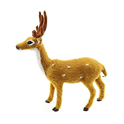Jullynice Lovely Simulation Reindeer Christmas Ornament Plush Plastic Cute Deer Children Toy Christmas Tree Home Decorations: Home & Kitchen