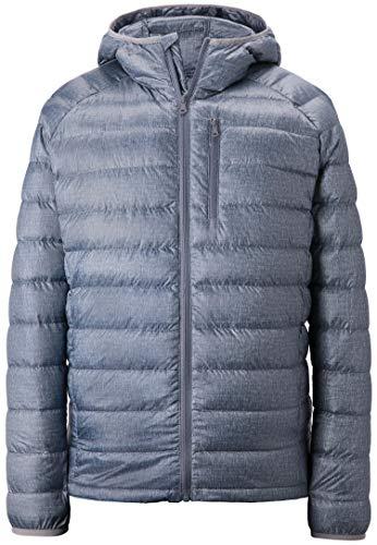 Wantdo Men's Packable Ultra Light Weight Hooded Puffer Down Jacket Grey M