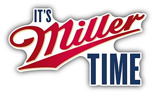 (It's Miller Time Beer Drink Car Bumper Sticker Decal 5