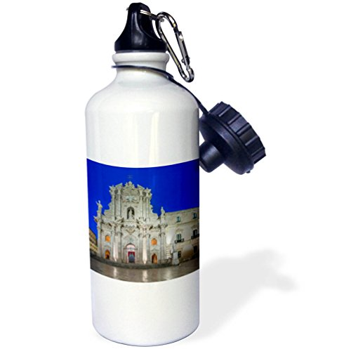 3dRose Danita Delimont - Churches - Italy, Sicily, Syracuse. Syracuse Cathedral at dawn - 21 oz Sports Water Bottle (wb_277646_1) by 3dRose