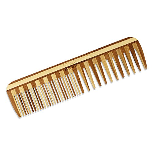 Comb - Large Wood Comb Wide Tooth / Fine Tooth Combination B