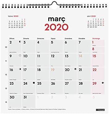 Finocam - Calendario de pared 2020 Escribir catalán: Amazon.es ...