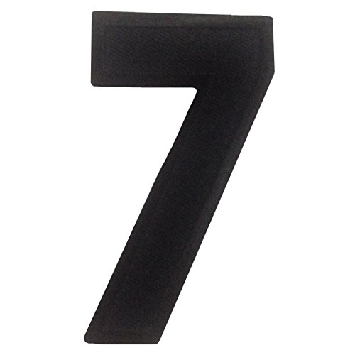 Number 7 Character Iron on Patches Embroidered Black