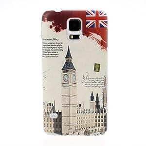 TY-Reino Unido Big Ben Patrón de plástico duro caso para Samsung Galaxy i9600 S5