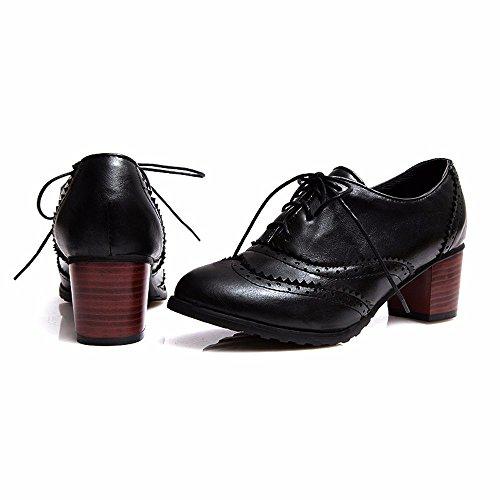 redonda Zapatos black cabeza los y Estados de estudiante Europa desnudo mujer con botas Unidos ocio zapatos q48YZxw0x