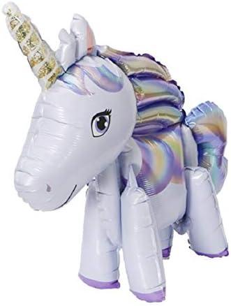 Ruikey 三次元ユニコーン風船 空気入れ 付く パーティー 誕生日 飾り付け セット ホワイトデー 応援 記念日 お祝い 告白 サプライズ 装飾 安い 飾りセット