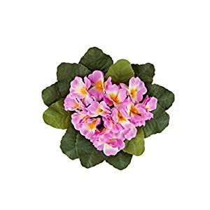 Hanken Group of 3 Colorful Artificial African Violet Bushes for Arranging, Crafting, and Designing 4