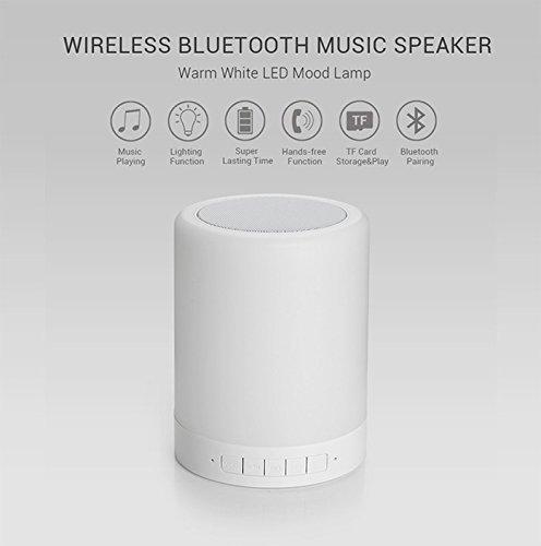 New 2019 Model Night Light Bluetooth Speaker BlueTec Handsfree Speakerphone Bedside Table Lamp 7 Color LED Light MicroSD // TF Card // AUX SRS-S1 Portable Wireless Speaker Smart Touch Control