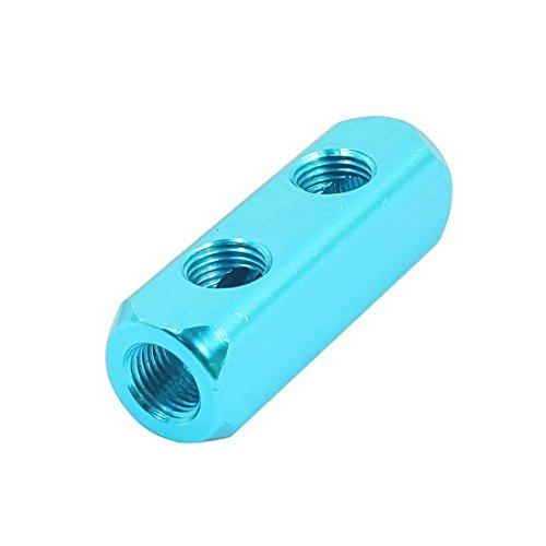 Uxcell 1/4NPT Thread 5Port Pneumatic Air Hose Inline Manifold Block Splitter