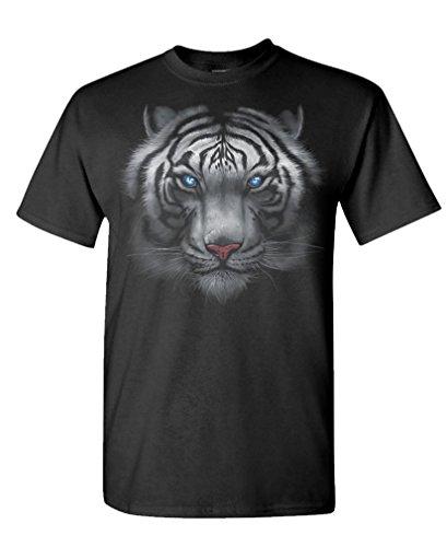 White Tiger Majestic Beauty - Big cat - Mens Cotton T-Shirt, S, Black