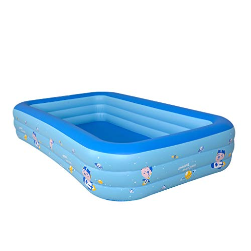 Chezaa Kiddie Pool, Blow Up Inflatable Space Ship Baby Pool Family Swim Center Pool for Kids, Summer Portable Swimming Pool Indoor Outdoor (Blue)