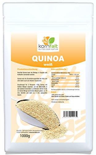 KORNFALT Quinoa Korn weiß - Premium - in Deutschland geprüfte Qualität (1 x 1 kg)