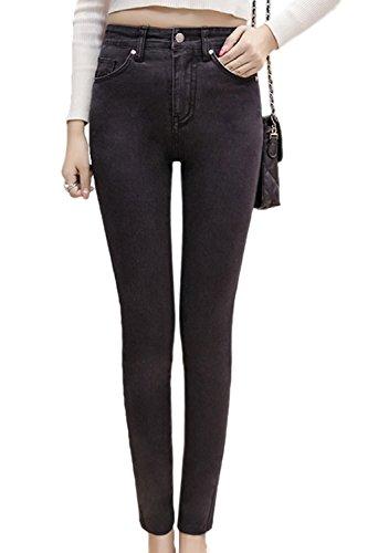 Les Femmes Les Plus Taille Taille Haute, La Cheville Pantalons Extensibles Skinny Jeans Black