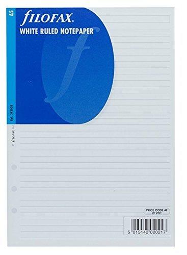 Filofax A5 White Ruled Paper