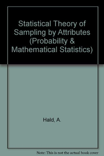 Statistical Theory of Sampling Inspection by Attributes (PROBABILITY AND MATHEMATICAL STATISTICS)