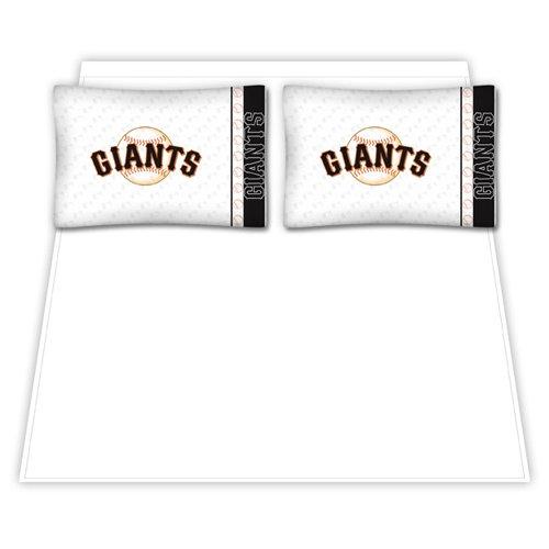 MLB San Francisco Giants Micro Fiber Sheet Set (Queen) (Coverage Queen Sports)