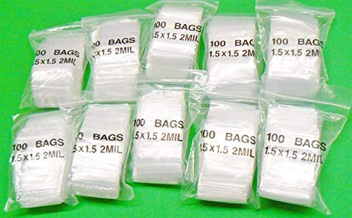 iMBAPrice Clear Reclosable ZipLock Ploy Bags(1.5″ x 1.5″ Inch) Case of 1000 Bags