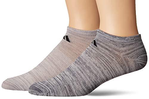 adidas Superlite No Show Socks (6-pack), Linen-Light Onix Space Dye/Black | Linen-Onix Space Dye/Black, Large (Shoe Size 6-12)
