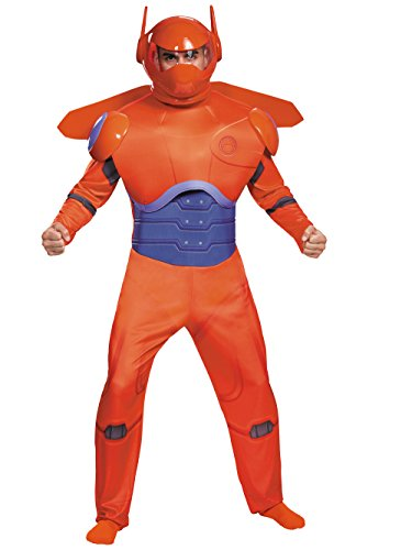 Baymax Costume (Disguise Men's Red Baymax Deluxe Adult Costume, Red, X-Large)