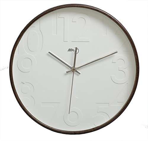 maytime-silent-wall-clock-wood-13-inches-non-ticking-digital-quiet-sweep-decorative-vintage-wooden-c
