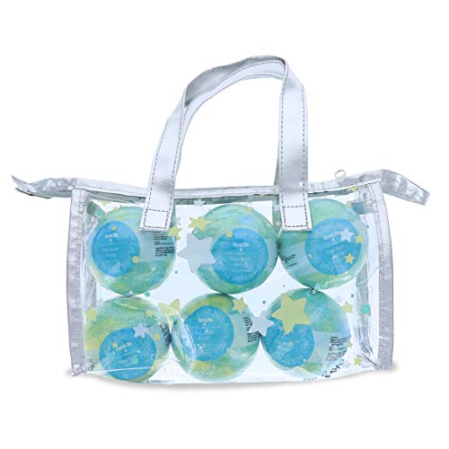 Spa Life Peppermint Bath Bombs 6 Piece Set with Tote Bag (Bath Set Peppermint)