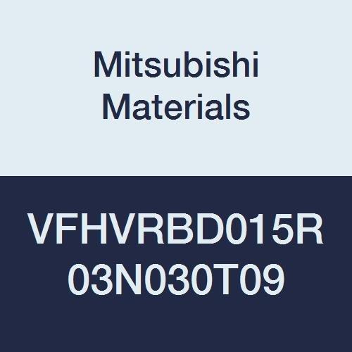 1.5 mm CEL 30 mm Neck Short 1.5 mm CED Mitsubishi Materials VFHVRBD015R03N030T09 Series VFHVRB Carbide Impact Miracle Corner Radius End Mill 0.9/° Taper Angle 4 Irregular Helix Flutes 0.3 mm