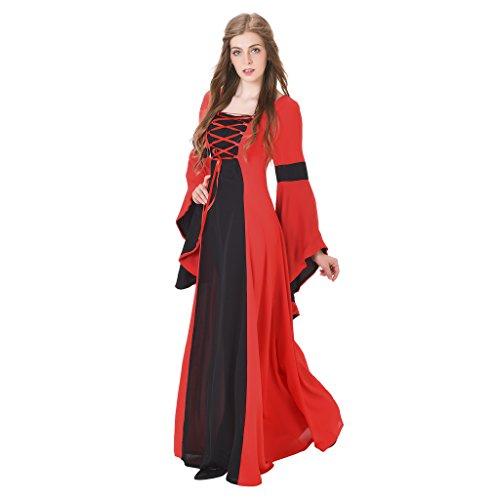 4e68fdebe587 1791's lady Medieval Renaissance Princess Hooded Gown Dress NQ0022-3-L