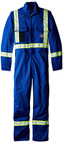 Carhartt Men's Big & Tall Flame Resistant Striped Coverall,Royal,56 Short by Carhartt