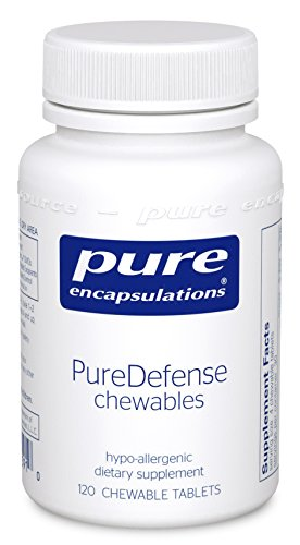 Pure Encapsulations - PureDefense Chewables - Hypoallergenic Dietary Supplement for Daily Immune Support* - 120 Chewable Tablets (120 Silica Tabs)