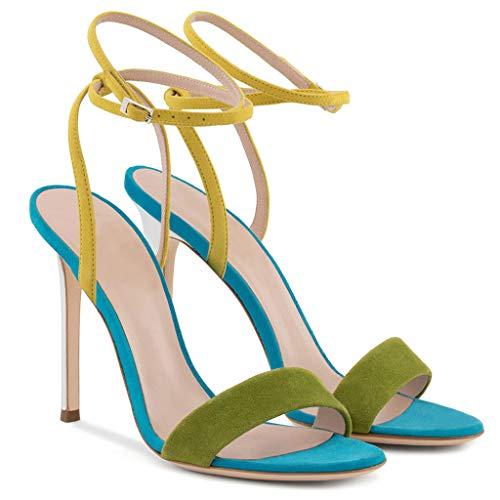 Boucle 2 Plate Confortable Cheville Hauts Sandales Slingback Banquet Des Talons Femmes Parti Stiletto Peep Toe forme Chaussures De Sandals Bride fqzwHR