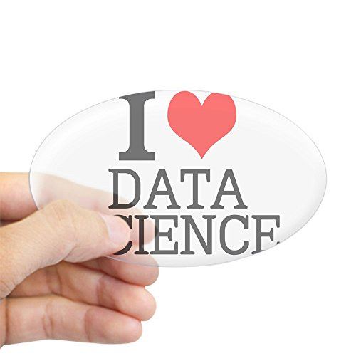 CafePress I Love Data Science Sticker Oval Bumper Sticker, Euro Oval Car Decal