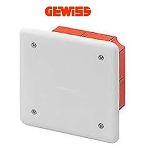 Gewiss GW48001 caja de conexión eléctrica - Cuadro eléctrico (Color blanco, 92 mm, 45 mm, 92 mm)