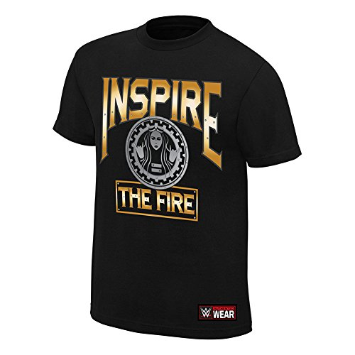 WWE Becky Lynch Inspire The Fire Youth T-Shirt Black Large by WWE Authentic Wear
