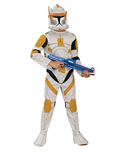Star Wars Clone Wars Clone Troopers (Star Wars Clone Wars Clone Trooper Child's Commander Cody Costume, Large)